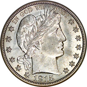 1915 50C MS obverse