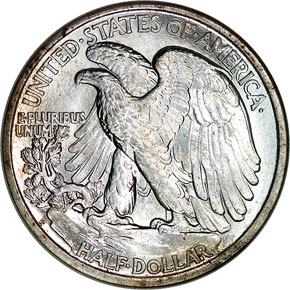 1917 D REVERSE 50C MS reverse
