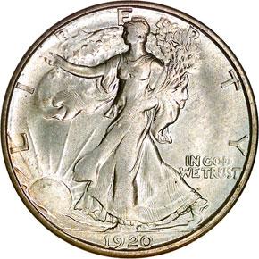 1920 S 50C MS obverse