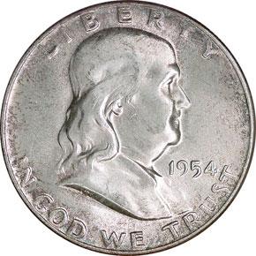 1954 50C MS obverse