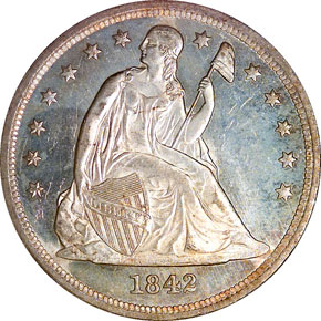 1842 S$1 MS obverse