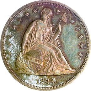 1844 S$1 MS obverse