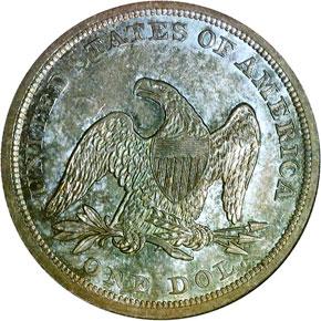 1844 S$1 MS reverse