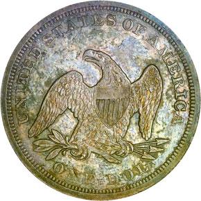 1851 S$1 MS reverse