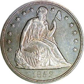 1852 S$1 MS obverse