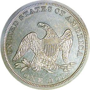 1852 S$1 MS reverse