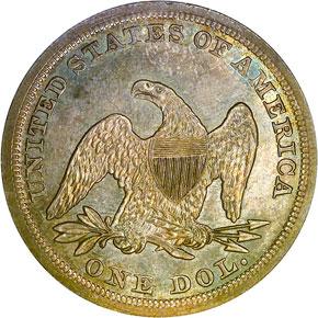1853 S$1 MS reverse
