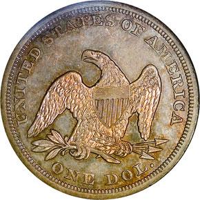 1855 S$1 MS reverse