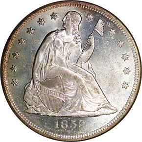 1859 O S$1 MS obverse