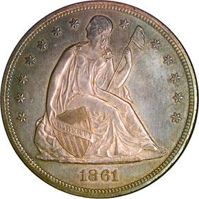 1861 S$1 MS obverse