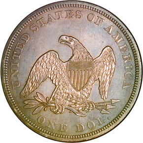 1861 S$1 MS reverse