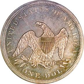 1865 $1 MS reverse