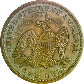 1868 S$1 MS reverse