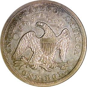 1870 S S$1 MS reverse