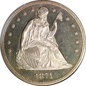 1871 CC S$1 MS obverse