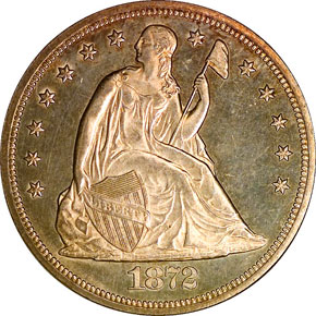 1872 CC S$1 MS obverse