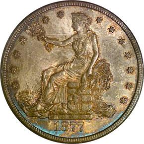 1877 CC T$1 MS obverse