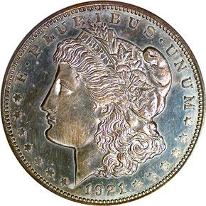 1921 MORGAN CHAPMAN $1 PF obverse