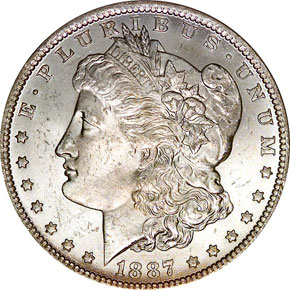 1887/6 O TOP-100 VAM-3 S$1 MS obverse