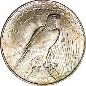 1922 $1 MS reverse