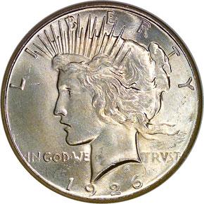 1926 S$1 MS obverse