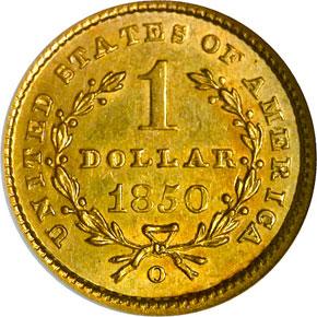 1850 O G$1 MS reverse