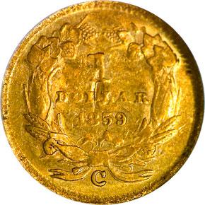 1859 C G$1 MS reverse