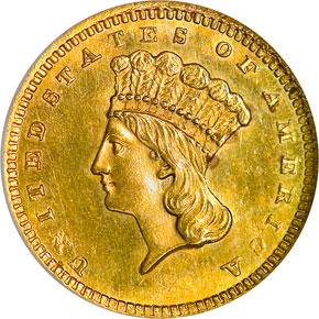 1861 G$1 MS obverse
