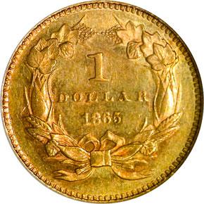1865 G$1 MS reverse