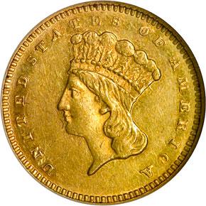 1867 G$1 MS obverse
