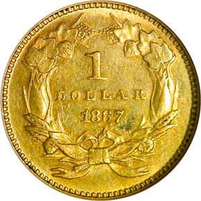 1867 G$1 MS reverse