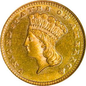 1869 G$1 MS obverse