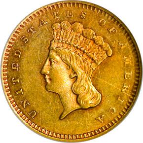 1870 S G$1 MS obverse