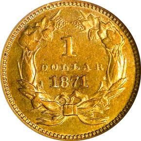 1871 G$1 MS reverse