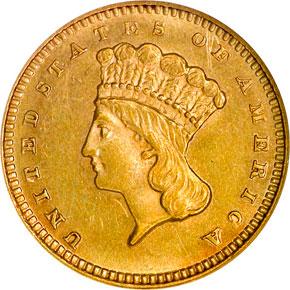 1878 G$1 MS obverse