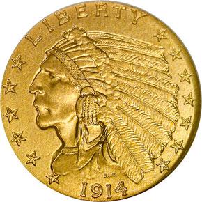 1914 $2.5 PF obverse