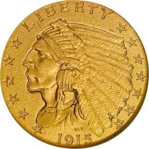 1915 $2.5 PF obverse