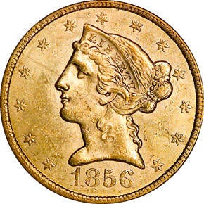 1856 $5 MS obverse