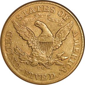 1875 CC $5 MS reverse