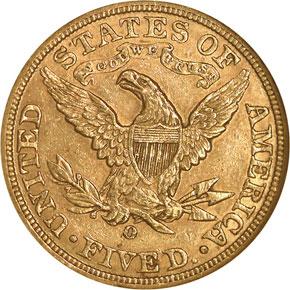 1894 O $5 MS reverse