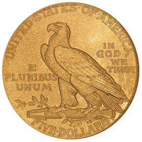 1911 $5 PF reverse
