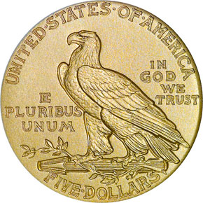 1914 $5 PF reverse