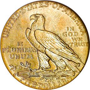 1914 S $5 MS reverse