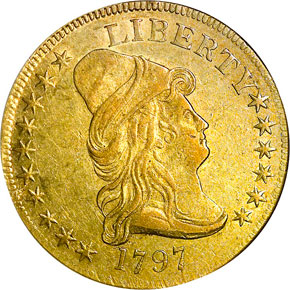 1797 LARGE EAGLE $10 MS obverse