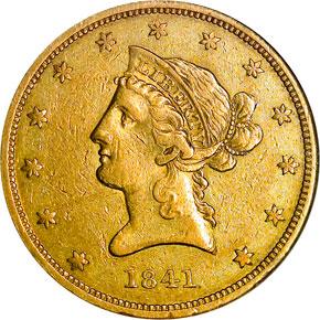 1841 O $10 MS obverse