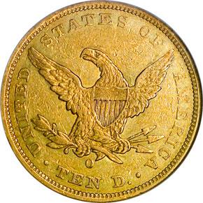 1841 O $10 MS reverse