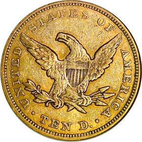 1849 $10 MS reverse