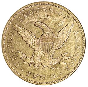 1870 CC $10 MS reverse