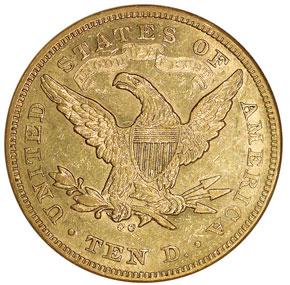 1871 CC $10 MS reverse