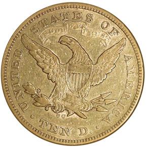 1872 CC $10 MS reverse